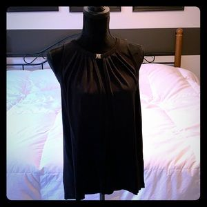 H&M black sleeveless shirt.